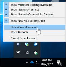 Minimize Outlook - Outlook