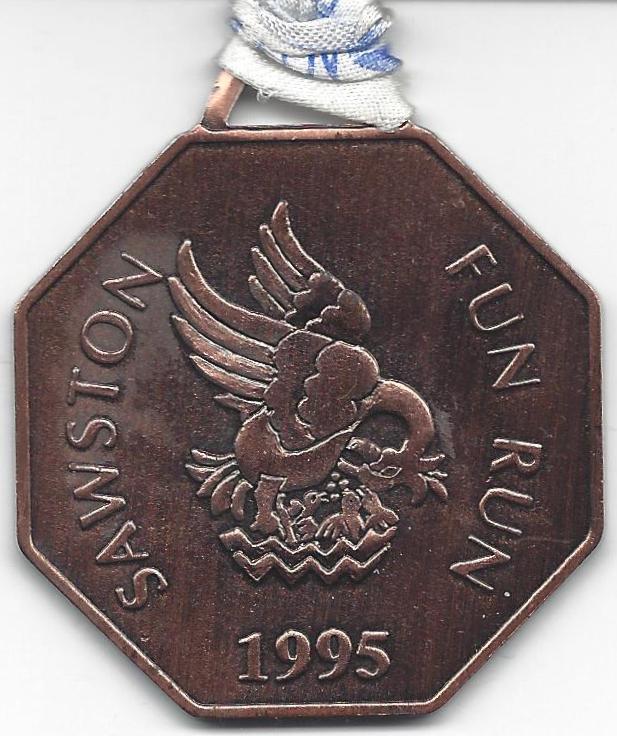 Sawston Fun Run medal (Front)